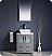 "Fresca Torino 24"" Gray Modern Bathroom Vanity Vessel Sink with Faucet and Linen Side Cabinet Option"