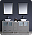 """Fresca Torino 72"""" Modern Double Sink Bathroom Vanity Vessel Sinks with Color, Faucet and Linen Side Cabinet Option"""