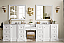 "James Martin De Soto Collection 118"" Double Vanity Set with Makeup Table, 3 CM Optional Top and Color Option"