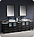 "Fresca Torino 96"" Modern Double Sink Bathroom Vanity Vessel Sinks with Color, Faucet and Linen Side Cabinet Option"