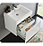 "Fresca Nano 24"" White Modern Bathroom Vanity with Faucet, Medicine Cabinet and Linen Side Cabinet Option"