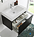 "Fresca Mezzo 30"" Black Wall Hung Modern Bathroom Vanity with Faucet, Medicine Cabinet and Linen Side Cabinet Option"