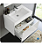 "Fresca Mezzo 30"" White Wall Hung Modern Bathroom Vanity with Faucet, Medicine Cabinet and Linen Side Cabinet Option"