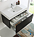 """Fresca Mezzo 36"""" Black Wall Hung Modern Bathroom Vanity with Faucet, Medicine Cabinet and Linen Side Cabinet Option"""