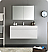"Fresca Mezzo 48"" White Wall Hung Modern Bathroom Vanity with Faucet, Medicine Cabinet and Linen Side Cabinet Option"