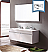"Fresca Largo 57"" White Modern Double Bathroom Vanity with Faucet, Medicine Cabinet and Linen Side Cabinet Option"
