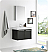 """Fresca Vista 30"""" Black Wall Hung Modern Bathroom Vanity with Faucet, Medicine Cabinet and Linen Side Cabinet"""