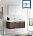 """Fresca Vista 48"""" Walnut Wall Hung Modern Bathroom Vanity with Faucet, Medicine Cabinet and Linen Side Cabinet Option"""