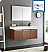 "Fresca Vista 48"" Teak Wall Hung Modern Bathroom Vanity with Faucet, Medicine Cabinet and Linen Side Cabinet Option"