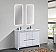 48 inch Glossy White Modern Double Sink Bathroom Vanity with White Quartz Countertop side