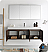 "Fresca Vista 60"" Walnut Wall Hung Modern Bathroom Vanity with Faucet, Medicine Cabinet and Linen Side Cabinet Option"