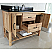 """The Bella Collection 48"""" in Single Sink Vanity Solid Fir Natural in Two Counter Top Option"""