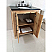 The Bella Collection 30 inches in Single Sink Wood Vanity Solid Fir Natural With Couter Top Options