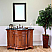 "The Bella Collection 48"" in Single Sink Vanity Wood Light Walnut"