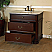 "The Bella Collection 38"" in Single Sink Vanity Wood Chestnut White Marble Counter Top"