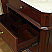 """The Bella Collection 38"""" in Single Sink Vanity Wood Chestnut White Marble Counter Top"""