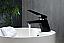 Modern Lux Single Lever Modern Bathroom Vanity Faucet - Matt Black