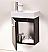"""Modern Lux 18"""" Black Wall Mount Modern Bathroom Vanity"""