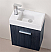 "Kubebath Bliss 18"" High Gloss Gray Oak Wall Mount Modern Bathroom Vanity"
