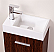 "Kubebath Bliss 18"" Walnut Wall Mount Modern Bathroom Vanity"