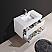 "Modern Lux 36"" High Gloss White Wall Mount Modern Bathroom Vanity"
