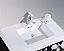 """Modern Lux 36"""" Black Wall Mount Modern Bathroom Vanity"""