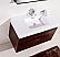 "Modern Lux 40"" Walnut Wall Mount Modern Bathroom Vanity"