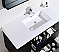 "Kubebath Bliss 48"" Black Wall Mount Modern Bathroom VanityModern Lux 48"" Black Wall Mount Modern Bathroom Vanity"