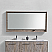 """Modern Lux 60"""" Framed Mirror With Shelve - Nature Wood Finish"""