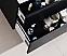 "Modern Lux 80"" Double Sink Black Wall Mount Modern Bathroom Vanity"