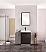 """Modern Lux 24"""" Black Free Standing Modern Bathroom Vanity"""