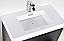 """Modern Lux 40"""" Black Free Standing Modern Bathroom Vanity"""