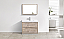 "Modern Lux 40"" Nature Wood Free Standing Modern Bathroom Vanity"