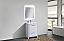 "Modern Lux 24"" High Gloss White Modern Bathroom Vanity with White Quartz Counter-Top"