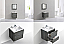 """Modern Lux 24"""" Wall Mount Modern Bathroom Vanity with Color Option"""