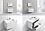 "Modern Lux 36"" Gloss White Wall Mount Modern Bathroom Vanity"