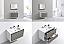 "Modern Lux 36"" Ash Gray Wall Mount Modern Bathroom Vanity"