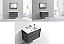 """Modern Lux 36"""" Ocean Gray Wall Mount Modern Bathroom Vanity"""