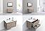 """Modern Lux 36"""" Nature Wood Wall Mount Modern Bathroom Vanity"""