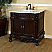 """The Bellatera Collection 34.6"""" Single Sink Vanity Wood Walnut Carrara White Marble"""
