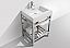 """Modern Lux 24"""" Stainless Steel Console with Acrylic Sink - Chrome"""
