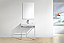 """Modern Lux 30"""" Stainless Steel Console w/ White Acrylic Sink - Chrome"""