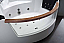 EAGO AM197ETL 5 ft Clear Rounded Corner Acrylic Whirlpool Bathtub for Two