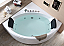 EAGO AM200 5' Rounded Modern Double Seat Corner Whirlpool Bath Tub with Fixtures
