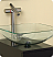 "Freca Brilliante 17"" Modern Bathroom Vanity Sink"