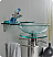 "Fresca Ovale 21"" Modern Glass Bathroom Vanity"