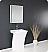 "Fresca Quadro 22.5"" Vanity White Pedestal Sink"
