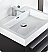 "Fresca Livello 24"" Black Modern Bathroom Sink"