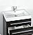 "Fresca Livello 24"" Black Modern Bathroom Cabinet"