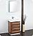 "Fresca Livello 24"" Walnut Modern Bathroom Vanity"